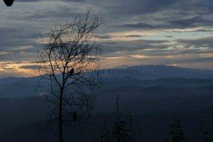 Himalayan sky at dusk