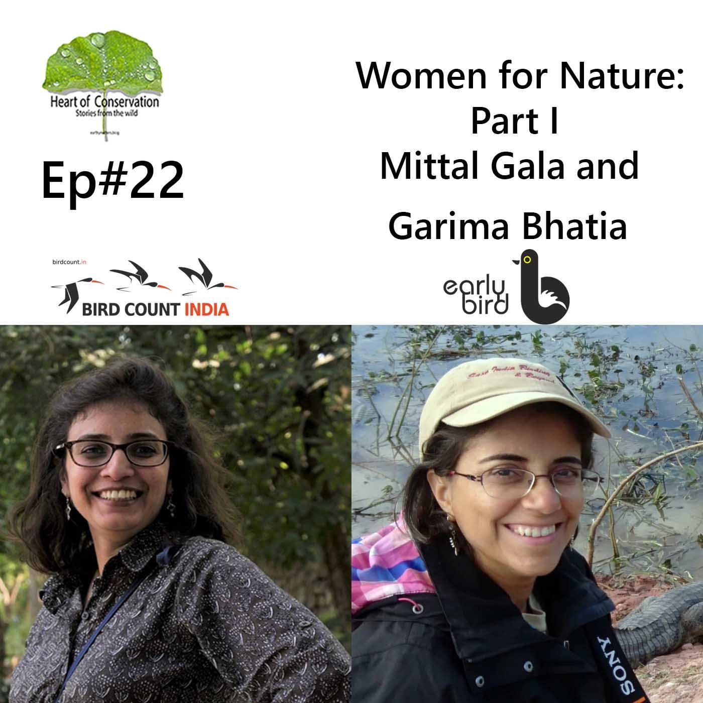 Women for Nature: Mittal Gala and Garima Bhatia.